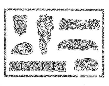 Татуировка кельтский узор