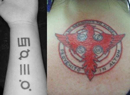 Татуировка на запястье феникс на теле