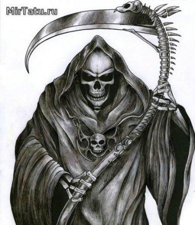 рисунки смерти с косой фото