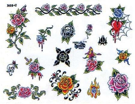 Эскизы татуировок розы