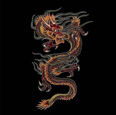 Китайские татуировки драконы