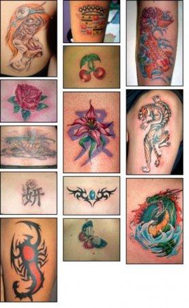 Как сделать временные цветную татуировки